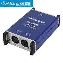 Caixa DI Alctron SC210N Profissional microfone combinador combinar dois sinais em um microfone equilibrada microfone equilibrada