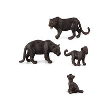 Children Plastic Simulation Animal Model Toys Wild Black Leopard For Children hand-made Furnishings Toys(China)