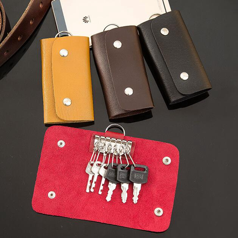 Fashion PU Leather Key Wallets Women Men Genuine Keychain Covers Zipper Key Case Bag Men Key Holder Housekeeper Keys Organizer