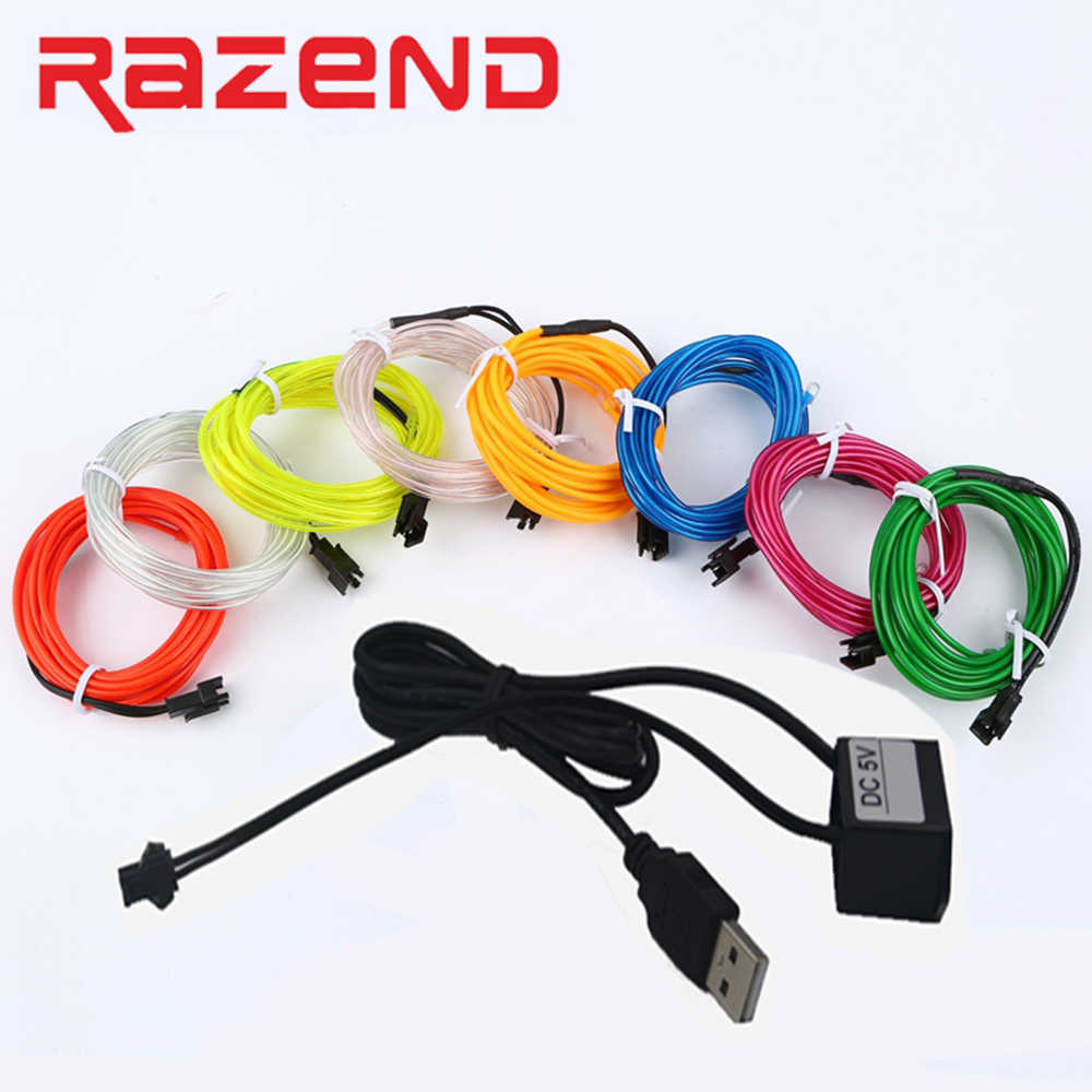 Detail Feedback Questions About Sewable El Wire Tron Led Neon Light Billboard Wiring 6m 8m 10m With Usb Inverter 5v Dance Party Decor String