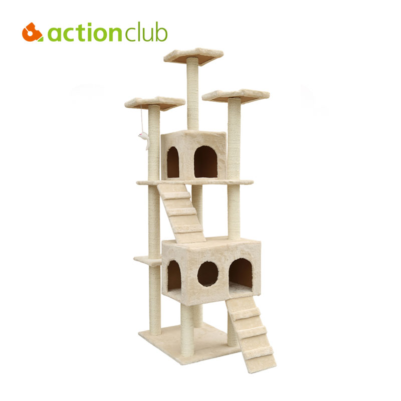 Actionclub Cat House Climbing Tower Condo Tree Scratching Post Furniture Kitty Play Toy Cat Toy 905 904