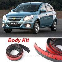 Auto Car Front Lip Deflector Lips Skirt For Agile Caprice Celta Corsa Sail Body Chassis Side Protection / Spoiler Lip Spliter
