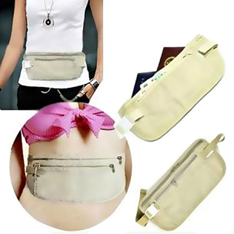 Outdoor Bum Bag Money Waist Belt Anti-theft Invisible Pocket Waist Bag Fanny Pack Pouch Travel Festival Money Wallet Bags