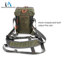 Maximumcatch Fly Fishing Tackle Bag Chest Pack Safe Guide Army Green Fishing Bag with Molded Fly Bench
