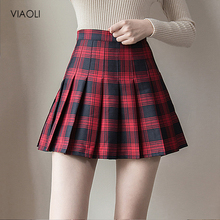 Plus Size Harajuku Short Skirt New Korean Plaid Skirt Women