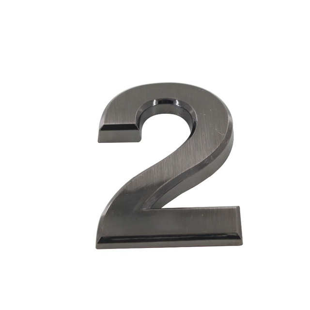 Aliexpress Buy Digital House Number 2 70mm Height Abs Plastic