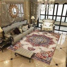 Alfombras y alfombras persas Vintage para el hogar, sala de estar, dormitorio, alfombras de estilo azul y rojo marroquí, sofá, mesa de café, alfombrilla de área, venta