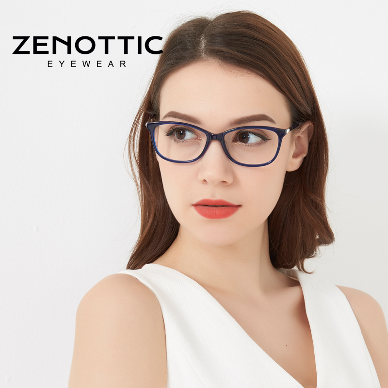 ZENOTTIC Brand Prescription Eyeglasses Men Women Optical Progressive Photochromic Myopia Glasses Anti Blue Prescription Glasses