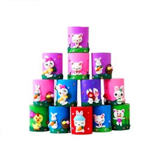 MIRUI Polymer Clay  Pen Holders Cute Christmas Gift Decoration Santa Claus  Gift Box Cartoon stationary elliptical pen container