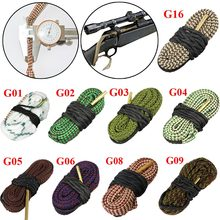 Airsoft Gun Bore Cleaner .22 Cal.223 Cal.38 Cal& 5.56mm,7.62mm,12GA Rifle Clean Kit Calibre Rifle Cleaning Barrel Snake Rope(China)