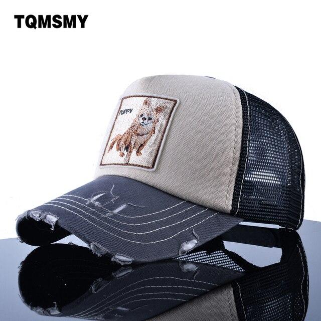 TQMSMY Sun hats for women s Snapback caps Mesh Baseball Cap men summer Hat  Embroidery dog Trucker Cap Unisex Hip Hop bone Pokemo 9f9c9d67e4