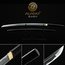 Pure black mysterious katana. Japanese performer true ninja sword. Sharp knifep Home Decorations Metal Crafts Holiday gifts