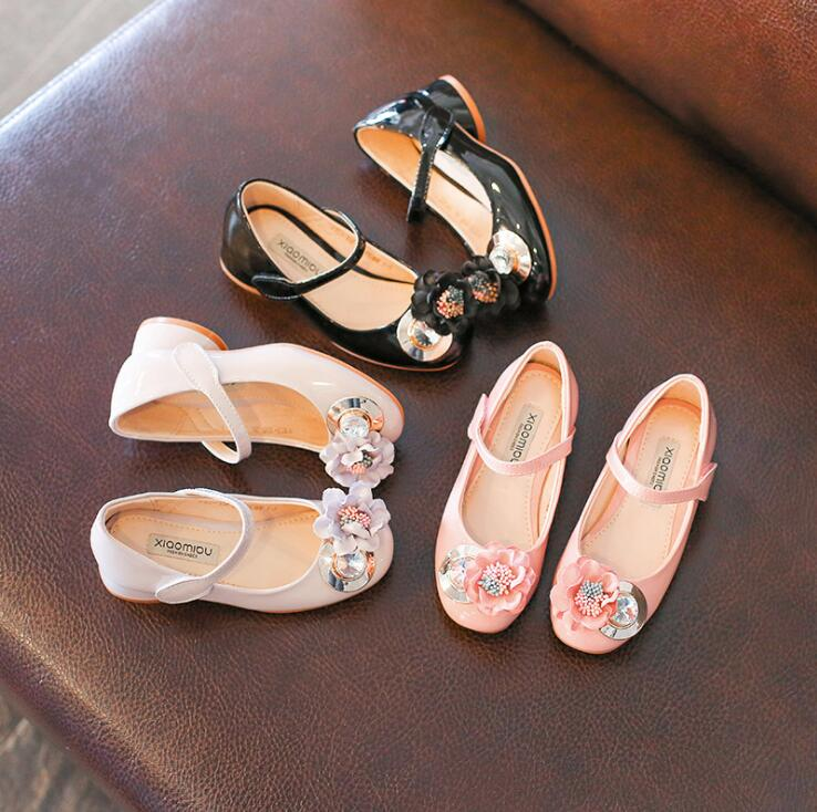 2018 New Beautiful Floral Decoration Dancing Shoes Lace-up Dancing Shoes For Girls Factory Dropshipping 3 Color
