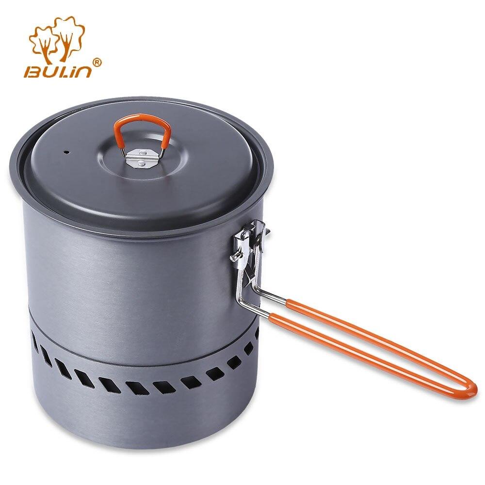 BULin Portable Poêle de Randonnée En Plein Air de Pique-Nique Randonnée Vaisselle Ensemble Vaisselle Camping Marmite Pan pour la Pêche Usage Domestique BARBECUE