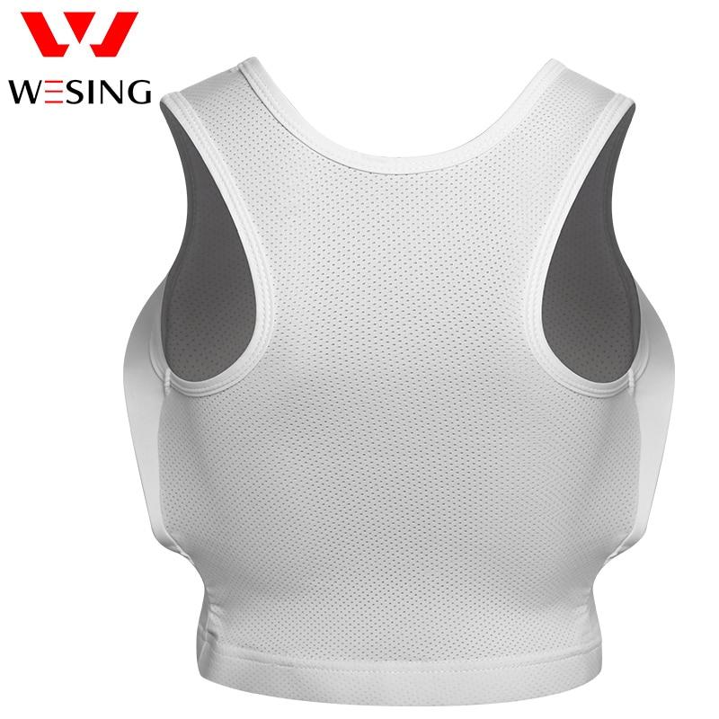 Protetor de peito feminino para artes marciais