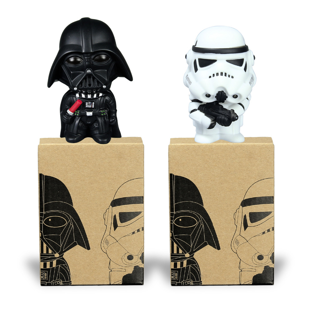 Star Wars Darth Vader Stormtrooper PVC Model Action Figure Black Warrior Clone Trooper Toy Original Box 2pcs new 1pc darth vader 10cm baby kids childs action figure toy loose xmas