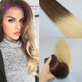 Grade 7A 7Clips/120g Ombre Clip In Hair T#4/613 Blonde Brazilian Human Straight Virgin Clip In Hair Extension Thick End