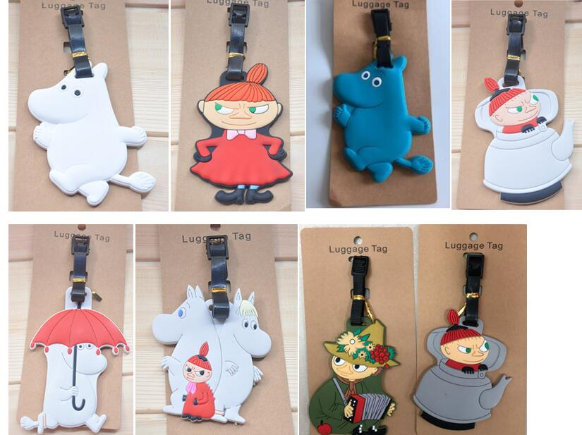 20 pcs Japanese anime witch hippopotamus girl cute Luggage tag PVC pendants suitcase decoration keychain Card