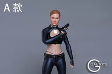 1/6 Beauty European Female Killer Head Carving with Fierce Eyes GACTOYS GC022 fit 12 Action Figure Doll Suntan Body
