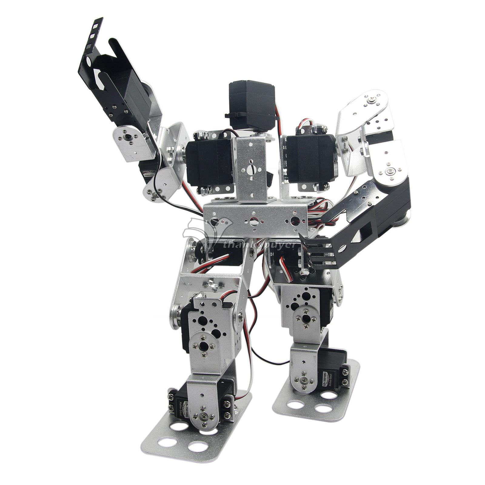 Assembled 13DOF Biped Robotic Educational Robot with LD-1501MG Servo for Racing Dancing new 17 degrees of freedom humanoid biped robot teaching and research biped robot platform model no electronic control system