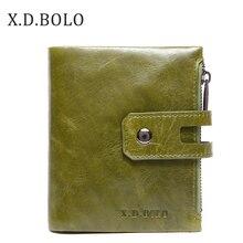 X.D.BOLO cüzdan kadın hakiki deri kartlık cüzdanlar kadın fermuar debriyaj bayan çanta para cebi ile kadın cüzdan