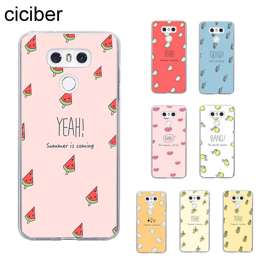 ciciber Fruit Cover For LG G6 G7 G5 G4 V20 V30 V35 V40 THINQ TPU For LG K10 K8 K7 K4 2017 2018 K9 K11 Plus Phone Cases Soft TPU