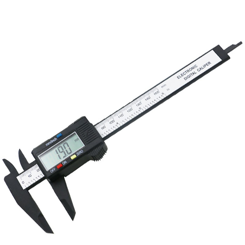 150mm LCD Digital Electronic Carbon Fiber Vernier Caliper Gauge Micrometer