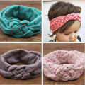 2017 New Cute Baby Headwear Printing Knot Hair Bands Baby Girls Headband Ribbon Elasticity kids Hair Accessories Hair bands KT0