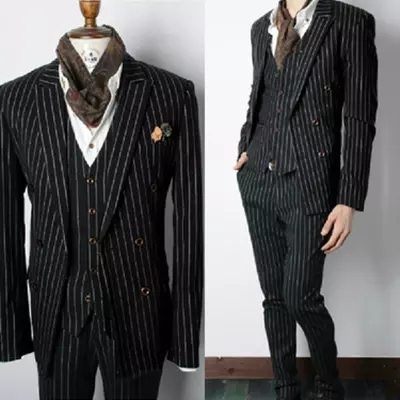 2017 men suits costume singer dancer show party Male stripe slim  male suit ds costumes high quality bar nightclub Jackets+Pants