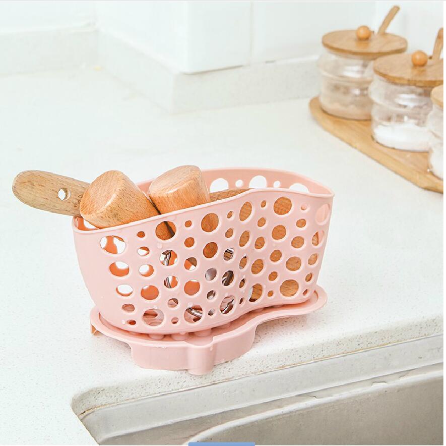 BF040 The kitchen sink drain basket tableware suction Storage Basket 17.6*8*10.5cm