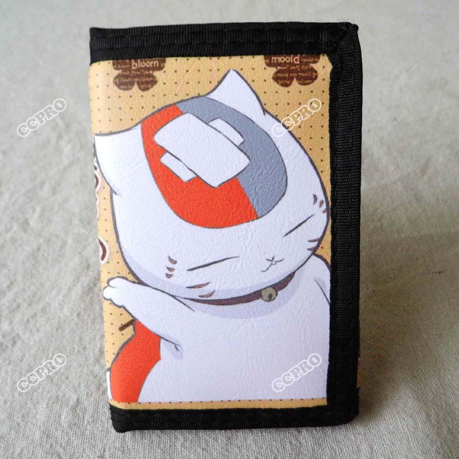 Anime Natsume Yuujinchou Nyanko Sensei Short Polyester Wallet/Purse 18cm japanese anime natsume yuujinchou takashi natsume with nyanko sensei pvc action figure model collection toy gift
