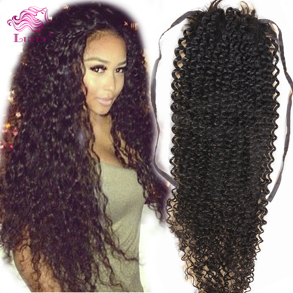 Hair roller clips picture more detailed picture about 100 human 100 human hair kinky curly drawstring ponytail virgin brazilian clip in hair extensions 80 pmusecretfo Image collections
