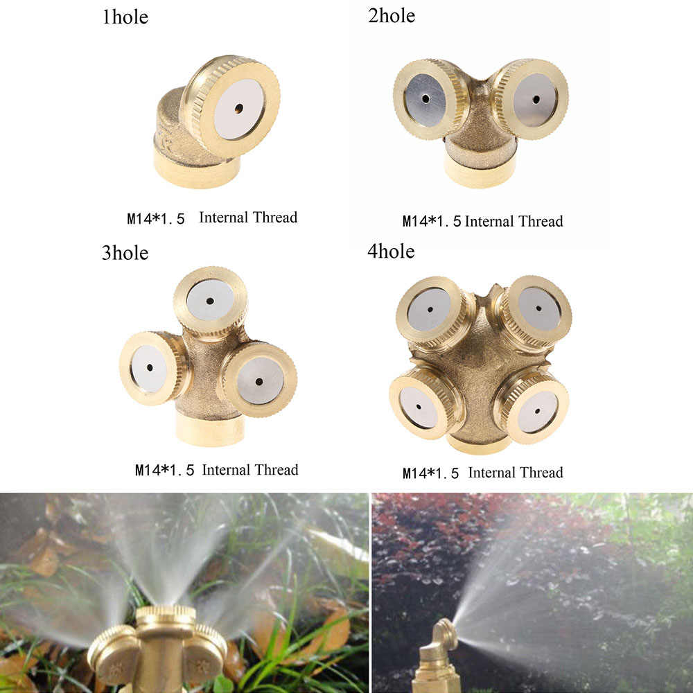 M14x1.5 Misting Nozzle Adjustable Hose Connector Brass Atomizing Spray Fitting Nebulizer Water Sprinklers Heads Garden Irrigatio