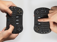 2,4g bluetooth ABS schwarz mini multifunktionale tastaturen für mini tabletten/laptops/pc/destops mit windows oder android OS