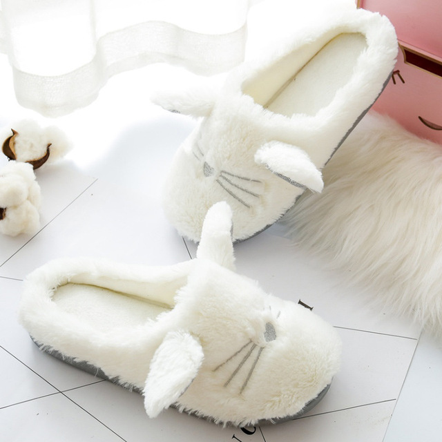 Cute Fluffy Cat Slippers 2