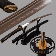 Battle Ready 1095 Carbon  Clay Tempered Steel Japanese Katana Sword Sharp Knife Real Hamon