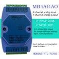 0-20 мА/4-20 мА/0-5 В/0-10 в аналоговый модуль ввода и вывода RS485 MODBUS