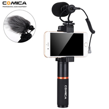 Comica Smartphone Video kit CVM-VM10-K1 Filmmaker Handle with Mini Microphone Rig for iPhone Samsung Huawei Phone