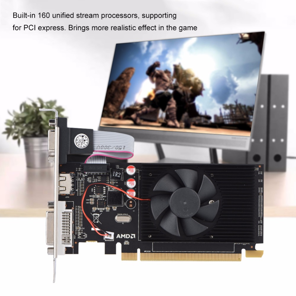 Graphics Cards 64 Bit HD6450 2GB DDR3 HDMI Graphic Video Card PCI Express for Radeon Gaming