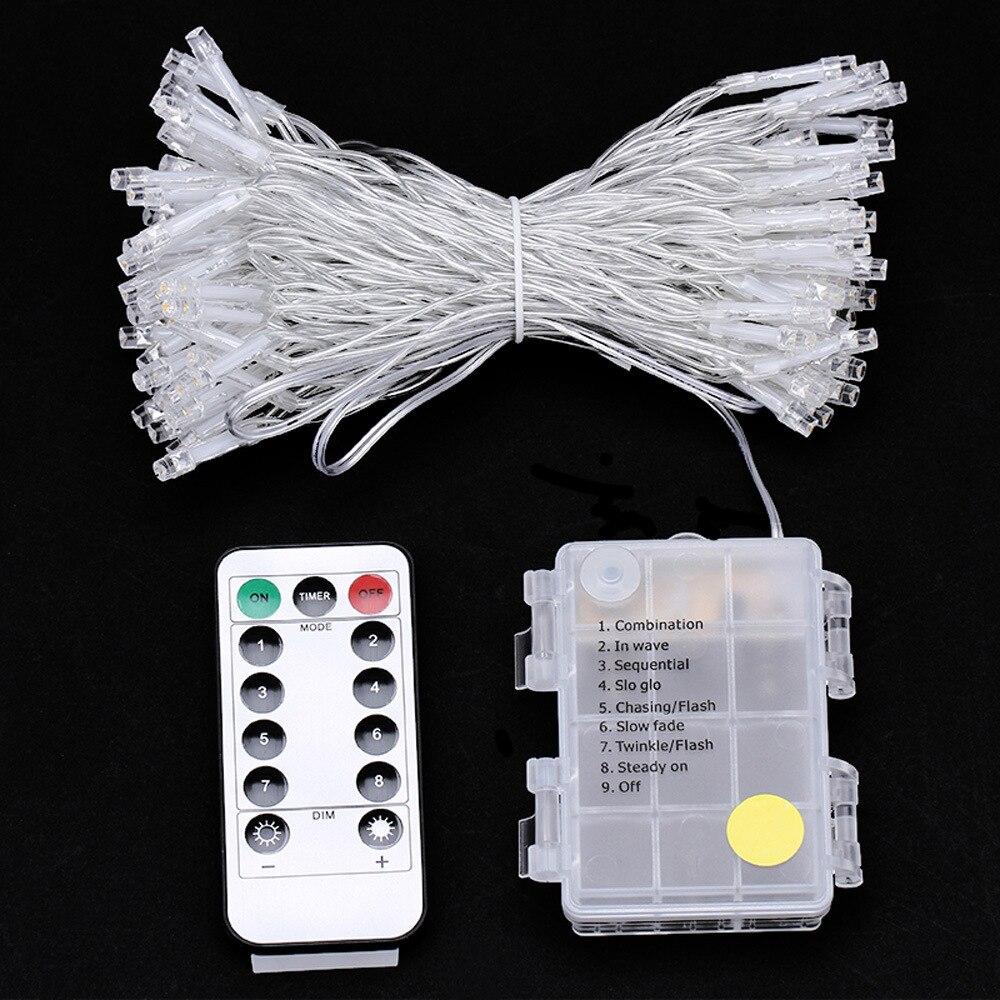 led strip 10m 100led fairy light string rgb battery. Black Bedroom Furniture Sets. Home Design Ideas