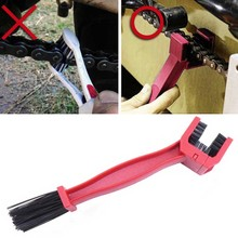 Portable Cycling Motorcycle Bicycle Gear Chain Clean Brush Cleaner Cleaning Tool Red Outdoor Cleaner Scrubber Tool cycling chain crankset cleaning brush