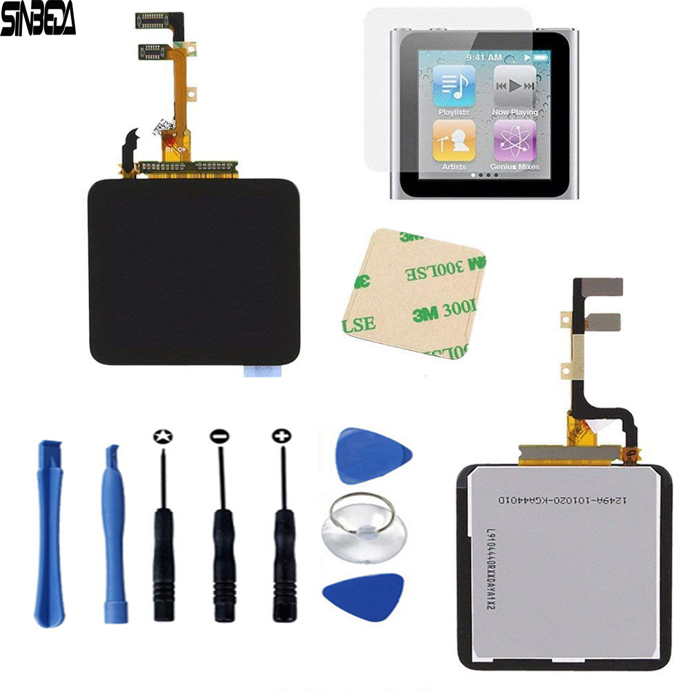 Sinbeda For iPod Nano 6 6th LCD Display Touch Screen with Digitizer Assembly For iPod nano6 Nano 6th Display LCD with Free ToolsSinbeda For iPod Nano 6 6th LCD Display Touch Screen with Digitizer Assembly For iPod nano6 Nano 6th Display LCD with Free Tools