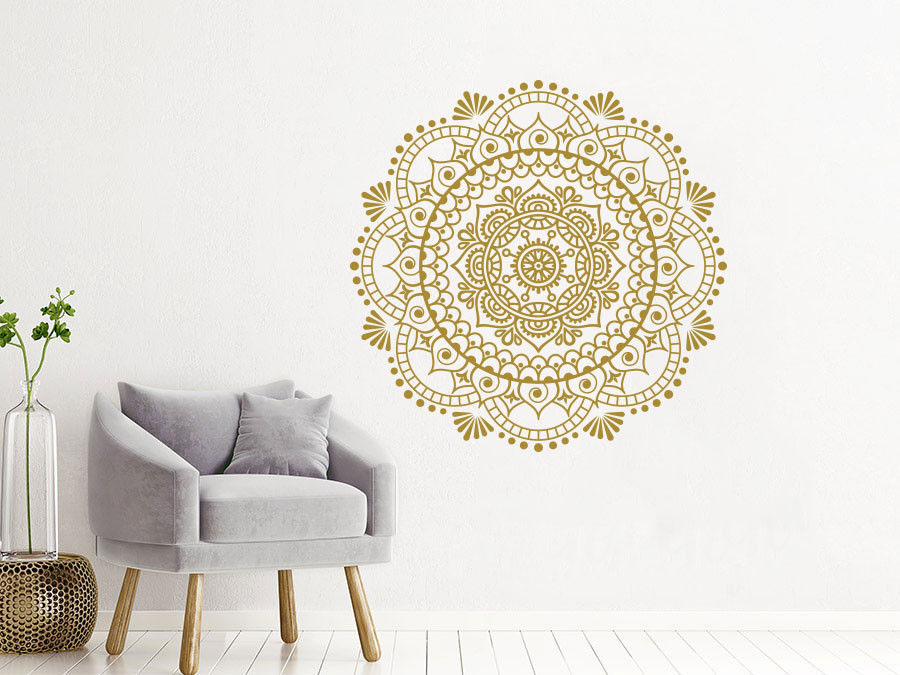 Home Decor Mandala Wall Decals Yoga Studio Decoration Removable Bohemian Wall Mural Mandala Style Bedroom Decor Sticker MTL05-in Wall Stickers from Home & Garden