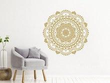 Home Decor Mandala Wall Decals Yoga Studio Decoration Removable Bohemian Wall Mural Mandala Style Bedroom Decor Sticker MTL05