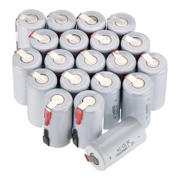 New arrival!  1800 mah SC Ni-CD 20pcs  rechargeable battery white color 4.25*2.2cm