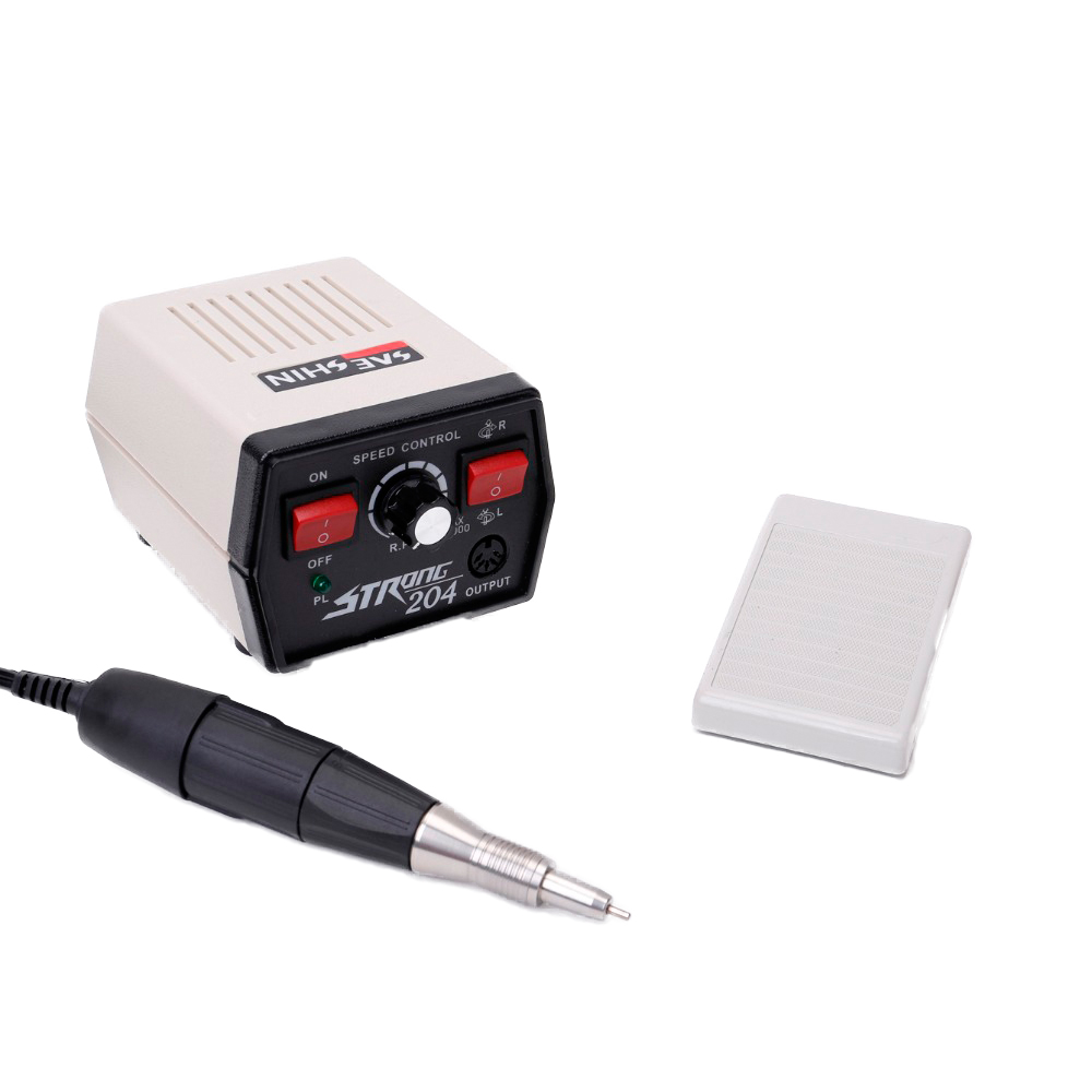 Carbon brushes Strong Micromotor 204 with handpiece Jewellery Engraving Nail polishing Dental Lab Micromotor original strong 204   90 micromotor