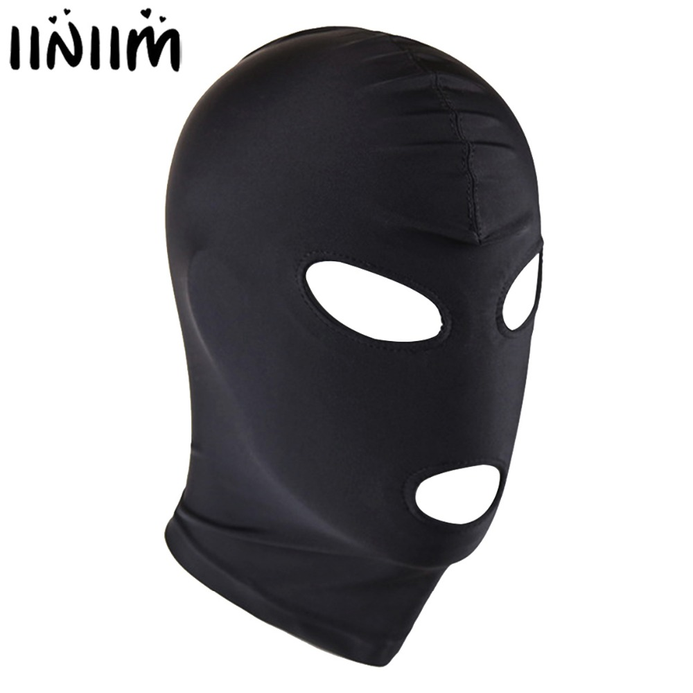 Unisex Lingerie Nightclub Masks Headgear Mask Hood Bondage for Role Play Costume Accessories