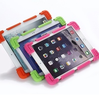 Universal Silicone Case For Screen 8 9 12 Tablet PC All Round Protector Cover Kickstand Flexible