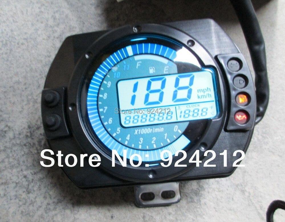 New Backlight Lcd Digital Motorcycle Speedometer Odometer