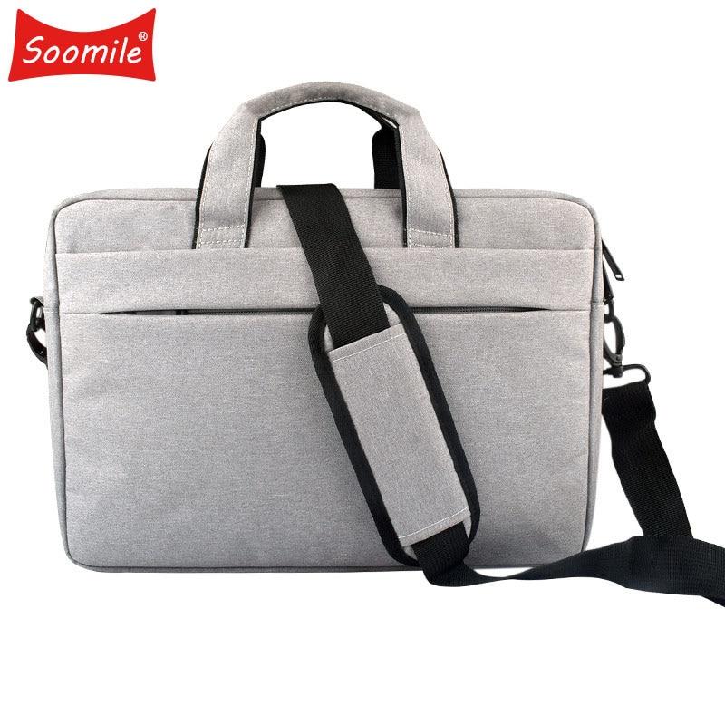 Soomile 2019 Fashion Men Briefcase 14-15 Inch Laptop Bag Male Simple Protfolio Office Briefcase Business Handbag Maletin Hombre
